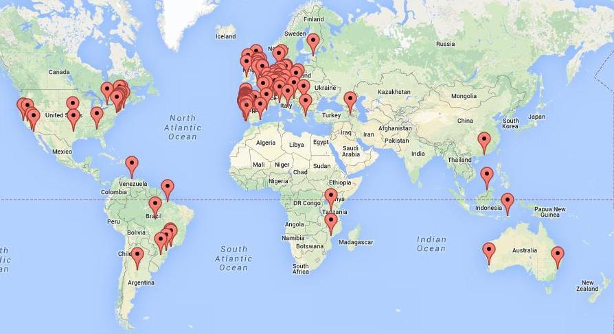 Os visitantes do Verdebranco vêm de todo o mundo
