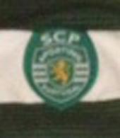 2001/02, formação do Sporting. Camisola listada de mangas compridas, de jogo
