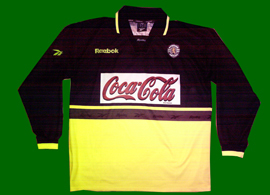 Away match worn U21 jersey. This is the model worn by the senior side in 1998/99 and 1999/00, but it has the new Club crest