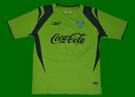 Match worn XL shirt from the Sporting Academy, junior side