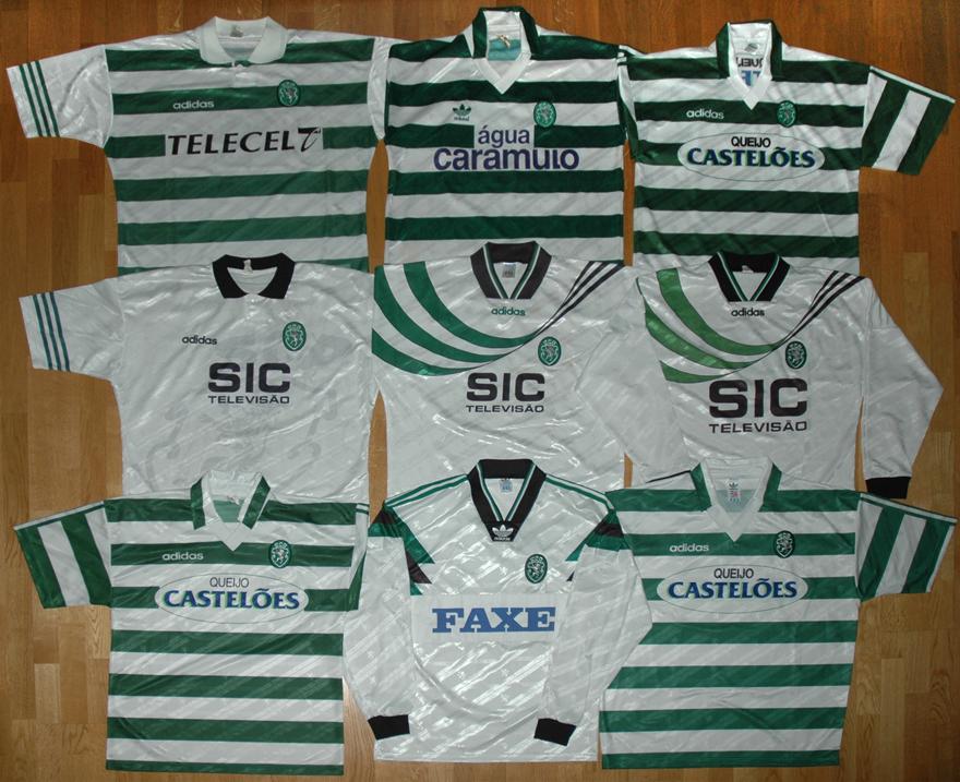 18 camisolas Adidas do Sporting