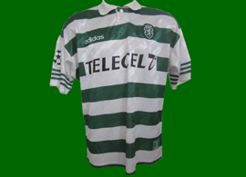 top worn by Saber, match Lierse-Sporting 1 October 1997 Champions League game