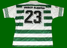 Camisola do Sporting usada por Marco Almeida contra o AS Monaco
