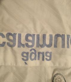 1993/94. Camisola Adidas de jogo, mangas compridas. O patrocínio FAXE é uma tira de pano a tapar o patrocínio Caramulo