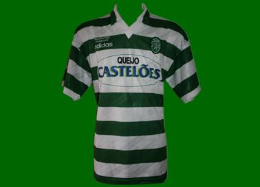 1994/95. Equipamento de Futebol do Sporting, usado na Final da Taça de Portugal por Amunike