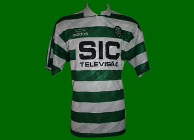1995/96. Equipamento de Futebol do Sporting, usado na Final da Taça de Portugal por Yordanov