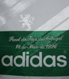 1995/96. Camisola de Futebol Adidas, usada em jogo por Yordanov na Final da Taça de Portugal