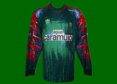 1992/93. Equipamento de Futebol de guarda redes, usado em jogo por Ivkovic
