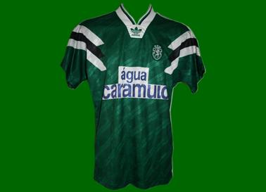 1992/93. Terceiro equipamento de Futebol de jogo, do jogador Juskowiak
