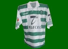 equipamento de jogo Sporting jogo particular contra o Porto a 30 de Julho de 1998 Leandro