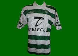 equipamento de jogo Luís Miguel 1996 97 Sporting
