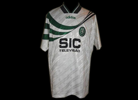 camisola alternativa branca do Sporting Maccabi Haifa 1995