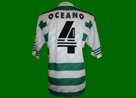 Equipamento de jogo do Oceano, campeonato nacional 97/98 Sporting Portugal