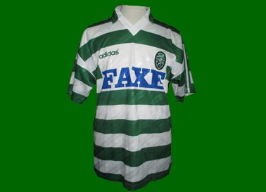 Equipamento de jogo de Paulo Torres 1993/94 FAXE Adidas