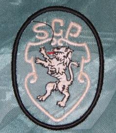 equipamento de jogo do Pedro Barbosa Sporting 1996 1997 emblema