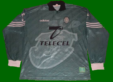 equipamento de jogo do Pedro Barbosa Sporting 1996 1997