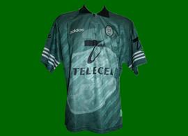 Equipamento alternativo verde do Sporting 1997/98
