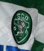 1994/1995. Match worn shirt of Sporting Lisbon football player Peixe, Adidas with sponsor FAXE