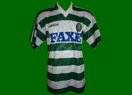 1994/1995. Match worn top of Sporting Lisbon football player Peixe