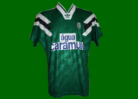 away match worn jersey Sporting Clube de Portugal caramulo adidas 1992 1993