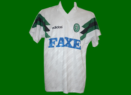 away match worn Sporting Clube de Portugal Faxe adidas 1993 1994