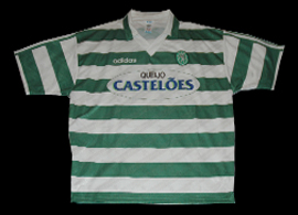 match worn shirt Sporting Academica de Coimbra Figo 1994 95