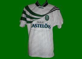 Sporting 1994 1995 Castelões Lisbonne maillot alternatif