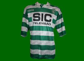 equipamento do Sporting 1995 1996 SIC Adidas do jogador Marco Aurelio