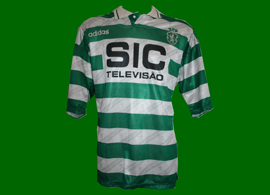 Sporting Lisbon 1995 1996 Marco Aurelio match worn badge Adidas SIC