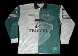 equipamento Sporting Lisboa Stromp manga comprida Adidas 1996 1997 Telecel