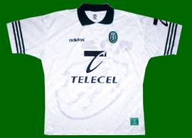 Away shirt Sporting Portugal Adidas 1996 1997 Telecel