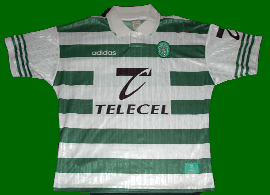 Sporting Lisbon home kit hoops telecel 1997 Adidas