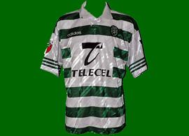 equipamento de jogo Sporting 1997 1998 Lang