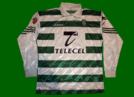 Match worn by Leandro, home kit 1997 1998 Sporting Lisbon