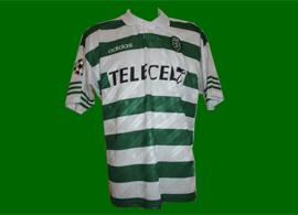 Camisa de jogo Sporting 1997 1998 Marco Aurelio Champions League