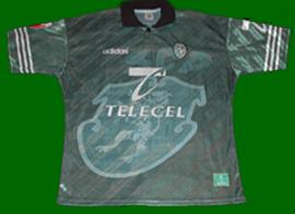Away shirt, match worn, football player Sporting Lisbon 1997