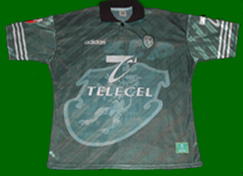 equipamento alternativo matchworn sporting 1997 1998 Marco Almeida