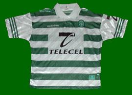 Camisa Sporting Adidas Telecel 1997 1998