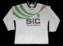 Sporting 1995 1996 Oceano camisola de jogo alternativa