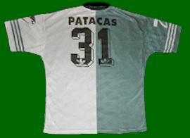 equipamento match worn Sporting 1997 1998 Patacas