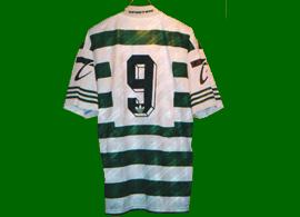Camisa de jogo Iordanov 96 97 Sporting Portugal