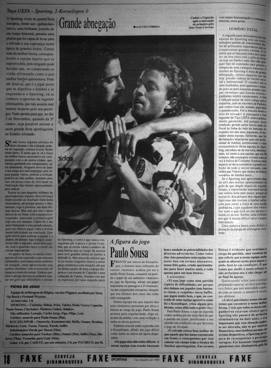 Casino Salzburg-Sporting, 7 de dezembro de 1993