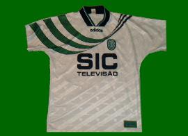 Away white soccer kit match worn by Ricardo Sa Pinto lion heart 95 96