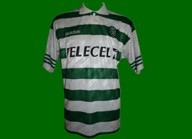 1997/98. Match worn jersey of Simão Sabrosa Champions League game against Beitar Jerusalem, Israel
