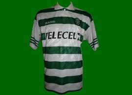 1997/98. Equipamento do Simão Sabrosa pré-eliminatória da Liga dos Campeões Sporting - Beitar de Jerusalem, Israel