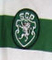 Sporting 1996 1997 camisola Adidas, com patrocínio Sapataria Relâmpago da vila Torre de Dona Chama