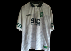 White away shirt worn by Vujacic Portugal Cup Campomaiorense 31 January 1996