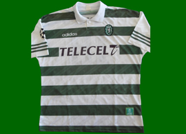 Champions League match worn shirt 1997 1998 Leandro against Lierse from Belgium