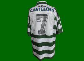 equipamento de jogo do Sporting do Figo pre-epoca 1994 1995 Adidas Casteloes