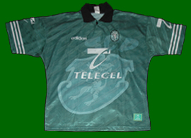 Equipamento classico do Sporting alternativo todo verde 1996 1997
